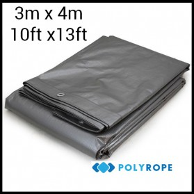Tarpaulin 210gsm heavy duty strong 3mX4m 100% waterproof garden car cover camping 3mx4m (10ftx13ft)