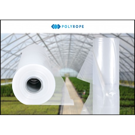 Clear Polythene Sheeting UV-5 Greenhouse Foil 8 METERS WIDE