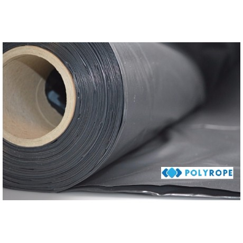 Damp Proof Black Polythene Sheeting 4mx25m roll DPM 200Mu 800 gauge