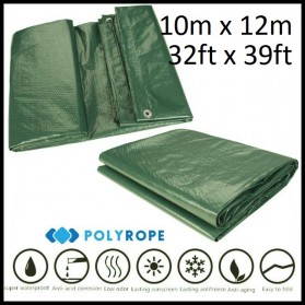 Tarpaulin Heavy Duty 140g/m Camping Car Garden Boat Patio Cover Various Sizes 2mx3m (6ftx10ft)