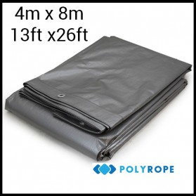Tarpaulin 210gsm heavy duty strong 4mX8m 100% waterproof garden car cover camping 4mx8m (13ftx26ft)